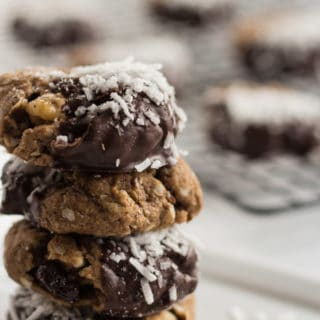 Fruit and Nut Chocolate Dipped Cookies