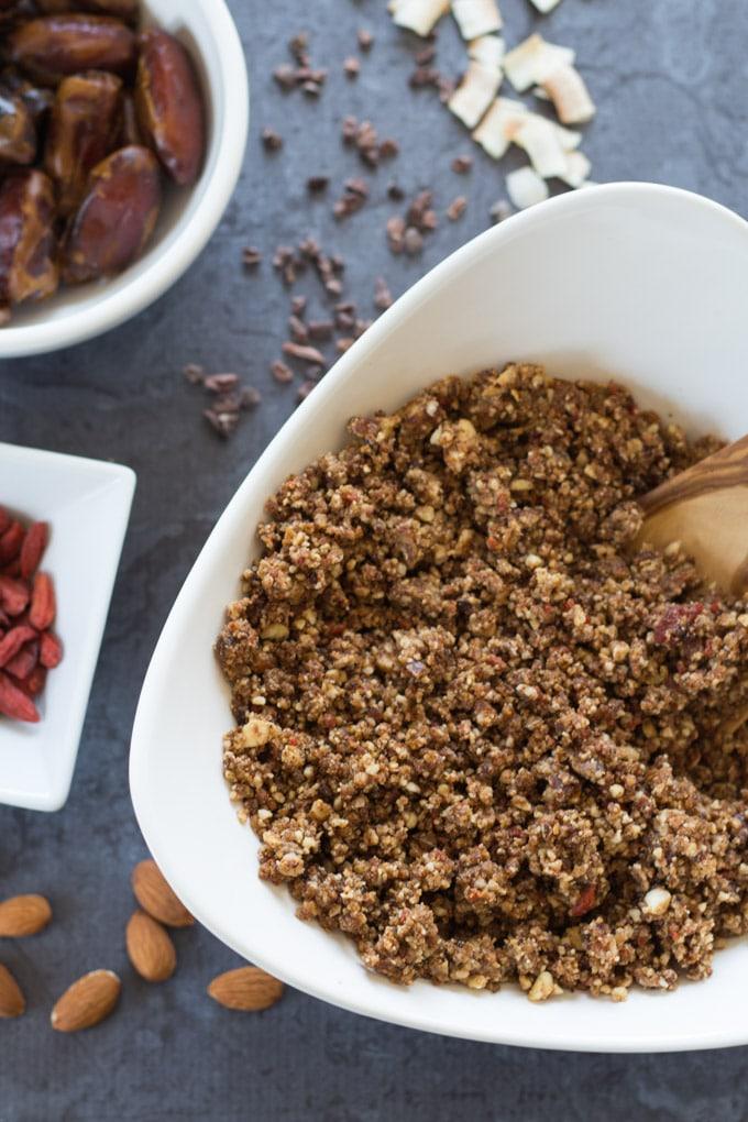 Chocolate Hazelnut Energy Bites