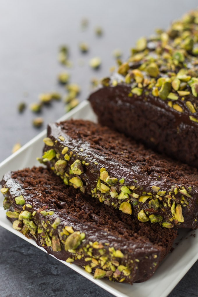 Dark Chocolate Zucchini Cake with Avocado Icing