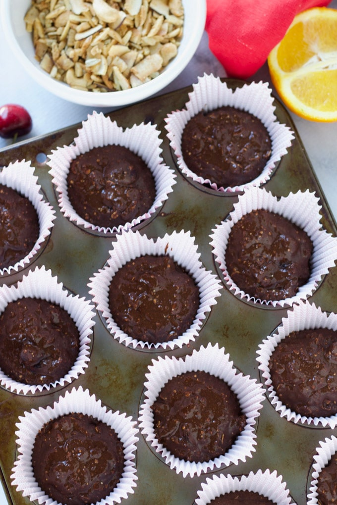Orange Chocolate Cherry Muffins