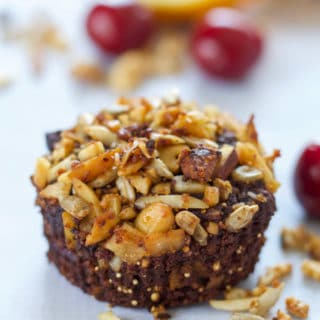 Orange Chocolate Cherry Muffins