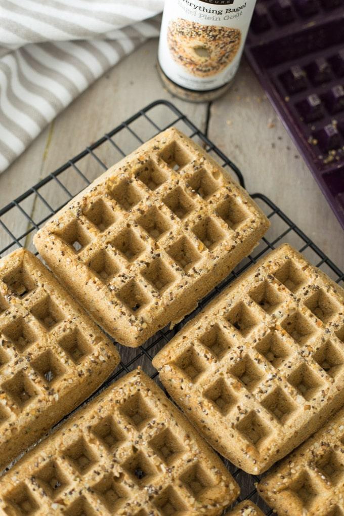 Everything Bagel Cornbread Waffles