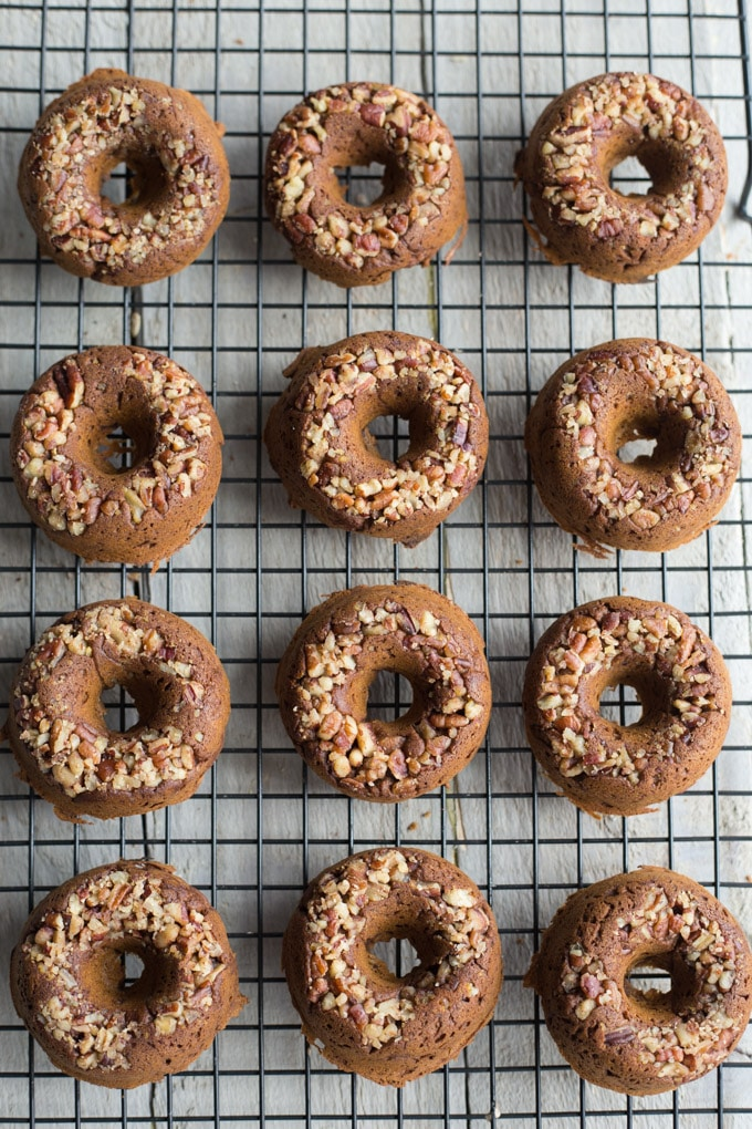 Pumpkin Pecan Protein Donuts