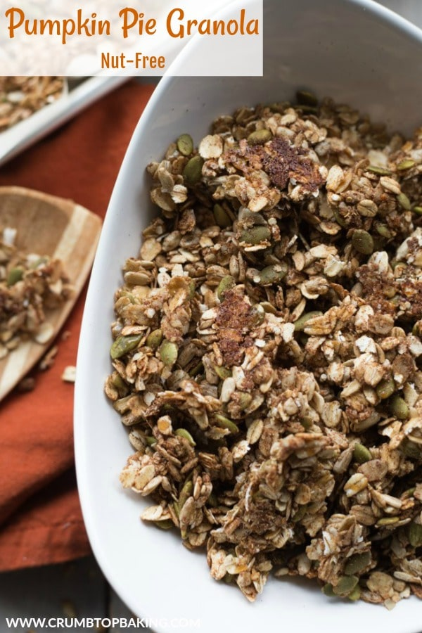 Pinterest image for Nut-Free Pumpkin Pie Granola.