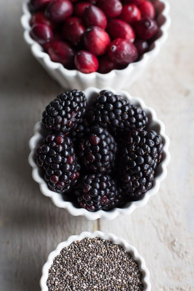 Blackberry Chia Cranberry Sauce