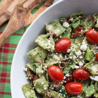 Festive Pesto Pasta Salad
