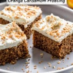 Pinterest image for Vegan Chai Cake - pin 1.
