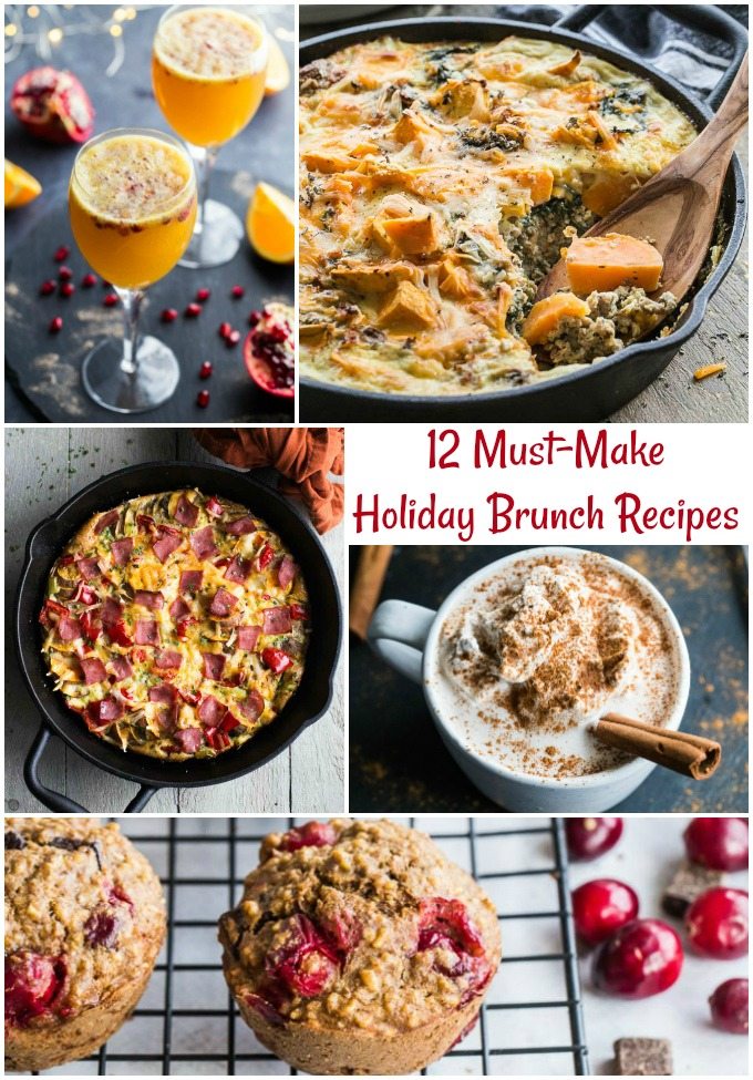 Pinterest Image for 12 Must-Make Holiday Brunch Recipes.