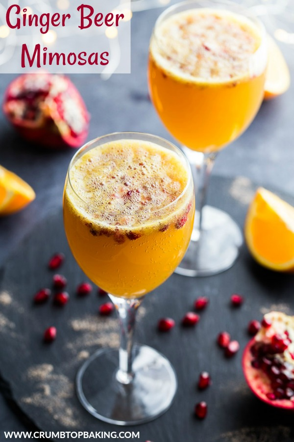 Pinterest image for Ginger Beer Mimosas.