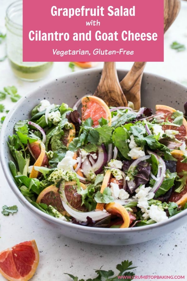 Pinterest image for Grapefruit Salad with Cilantro and Goat Cheese.