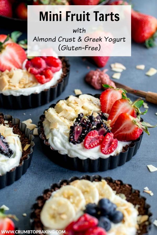 Pinterest image for Mini Fruit Tarts.