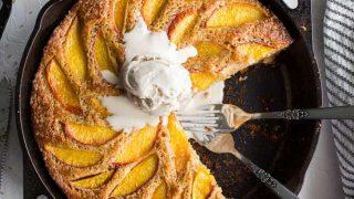 Peach Ricotta Skillet Cake