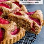 Pinterest image for Buttermilk Plum Cake.