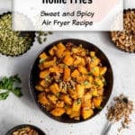 Pin image for Butternut Squash Home Fries.