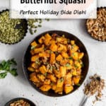 Pin image for Air Fryer Butternut Squash.