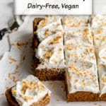 Pinterest image for Vegan Chai Cake with coconut whip - pin 2.