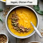 Pinterest image for one pot Golden Beet Soup.