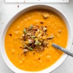 Pinterest image for Dairy-Free Butternut Squash Soup.