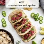 Pinterest image for Slow Cooker Chicken Tacos - short pin.