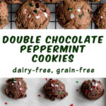 Pinterest image for Double Chocolate Peppermint Cookies - long pin 2.