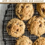 Pinterest image for Cookie Butter Chocolate Chip Cookies - short pin.