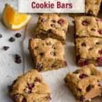 Pinterest image for Cranberry Chocolate Chip Cookie Bars - short pin 2.