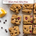 Pinterest image for Cranberry Chocolate Chip Cookie Bars - short pin 1.