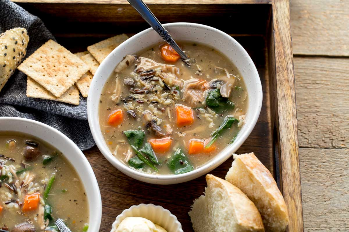 Instant Pot Chicken and Wild Rice Soup (Dairy-Free)