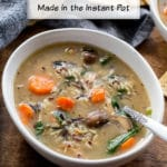 Pinterest image for Chicken and Wild Rice Soup - short pin.