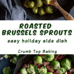 Pinterest image for Roasted Brussels Sprouts - long pin 2.