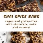 Pinterest image for Chocolate Chai Spice Crumble Bars - long pin 1.