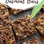 Pinterest image for Chocolate Oat Bars - short pin 1.