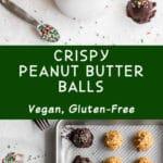 Pinterest image for Crispy Peanut Butter Balls - long pin 1.
