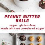 Pinterest image for Crispy Peanut Butter Balls - long pin 2.