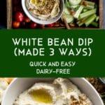 Pinterest image for White Bean Dip - long pin 3.
