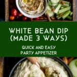 Pinterest image for White Bean Dip - long pin 4.