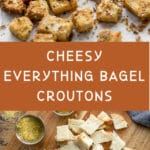 Pinterest image for Everything Bagel Croutons - long pin 1.