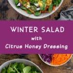 Pinterest image for Winter Salad - long pin 1.