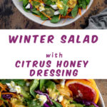 Pinterest image for Winter Salad - long pin 2.