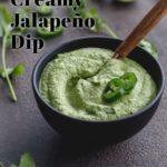 Pinterest image for jalapeño cilantro dip.