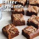 Pinterest image for Salted Almond Butter Brownies - pin 2.