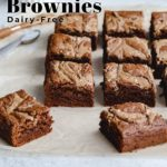 Pinterest image for Salted Almond Butter Brownies - pin 3.