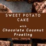Pinterest image for Sweet Potato Cake.