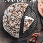 Pinterest image for blood orange chocolate cake - short pin.
