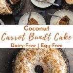 Pinterest image for Coconut Carrot Bundt Cake.