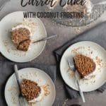 Pinterest image for Vegan Coconut Carrot Cake.