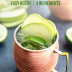 Pinterest image for green apple Irish mule recipe.