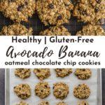 Pinterest image for avocado banana cookies - pin 1.