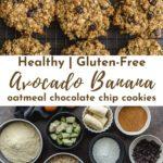 Pinterest image for avocado banana cookies - pin 2.