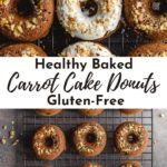 Pinterest image for Carrot Cake Donuts - collage pin.